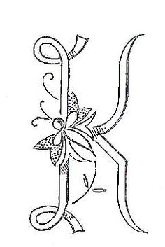 "Broderie D'Antan: Embroidery Patterns (21 Monograms for ""K"")"