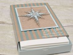 Create a custom box and foil sleeve for coordinating note cards and envelopes using the Star of Light stamp set from Stampin' Up!