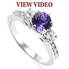 14k Gold Tanzanite Diamond Ring