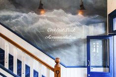 Mural at Frisco Hotel Nautical Painting, Sea Storm, Romantic Paintings, Sea Spray, Wall Finishes, Surf Art, Rustic Industrial, Midnight Blue, Fresco