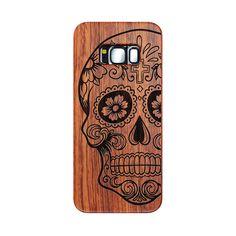 Samsung S8 wood case (skull)  #woodcase #fatok #mobiltok #samsungtok