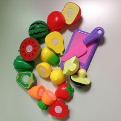 10 개/대 플라스틱 주방 음식 과일 야채 절단 아이 척 교육 장난감 요리 코스프레 안전 뜨거운 판매