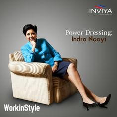 This week Inviya takes a look on India's favourite businesswomen. Added to her power and success quotient, PepsiCo CEO Indra Nooyi's unique dressing quotient inspires us too! Indra Nooyi, That Look, Take That, Power Dressing, Powerful Women, Work Fashion, Signature Style, Business Women, Different Styles
