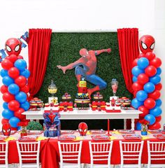 We absolutely loved putting together this Spider-Man theme party for a sweet little boy named Sebastian! Design & Set-up Spiderman Theme Party, Spiderman Birthday Cake, Superman Birthday Party, Spider Man Birthday, Spider Man Party, 3rd Birthday, Fun Party Themes, Birthday Party Decorations, Ideas Party