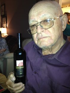 Wine from his exact town in Italy. No idea why he looks so sad lol