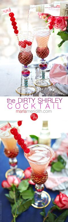 Dirty Shirley Cocktail | a Shirley Temple Drink ~ All Grown Up | MarlaMeridith.com