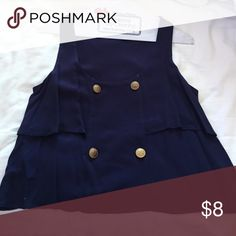 Navy blue sailor blouse Nautical indeed Tops Blouses