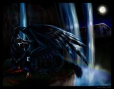 demon wolf with wings - Google Search
