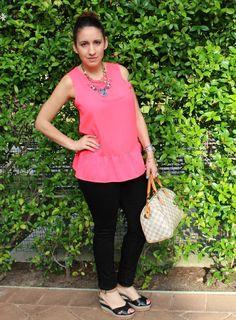 Wearing my favorite Pink Peplum|Pretty In Her Pearls