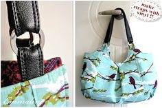 Perfect!  Great sewing tute on making vinyl straps for your purse projects!  LOVE