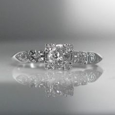 #Solitaire #Diamond #Ring 14k #White #Gold 145.11