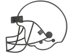Football Helmet Iron Wall Decoration $14.99
