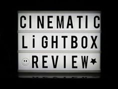 Gadget Girl Reviews: Cinematic A4 LED Lightbox Video Review