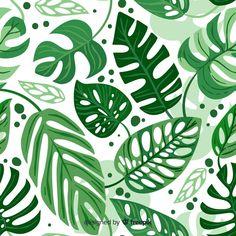 Discover thousands of free-copyright vectors on Freepik Tropical Background, Green Leaf Background, Plant Illustration, Botanical Illustration, Rainforest Project, Leaves Doodle, Leaves Vector, Vector Flowers, Plant Vector