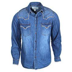 Men's Ryan Michael Denim Chisum Shirt at Maverick Western Wear