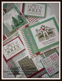 Tis the Season....almost. :)      I'm gearing up for my upcoming Christmas Card Workshops!  I am shipping pre-stamped kits right now.    ...