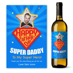 For a super hero of a Dad, Daddy, Grandad, Step-Dad, Godfather or Dad to Be. Personalise this unique gift for Father's Day or even a birthday for s special someone. Full range of unique gifts at www.justthecard.co.uk