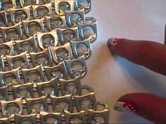 DIY Pop Tab Chain Mail - YouTube
