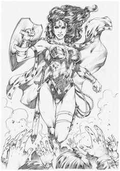 Drawing Dc Comics Wonder Woman by Marcio Abreu Comic Book Artists, Comic Artist, Comic Books Art, Art Sketches, Art Drawings, Wonder Woman Art, Arte Dc Comics, Comic Drawing, Comics Girls