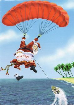 #santaclaus #paragliding #funny #xmas #lettersfromsanta