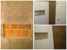 Os nichos para banheiro são boas apostas para aproveitar o espaço vertical e ter espaço para guardar itens ou até objetos decorativos. O recurso pode ser embutido dentro do box, e assim dispensa suporte