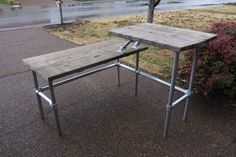 Reclaimed Custom Wood Standup L Desk by Planksters on Etsy, $750.00