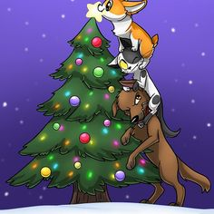 Tree Topper Tower by AylaStarDragon Cute Funny Animals, Funny Animal Pictures, Funny Cute, Cute Pictures, Hilarious, Dog Comics, Cute Comics, Cute Corgi, Cute Puppies