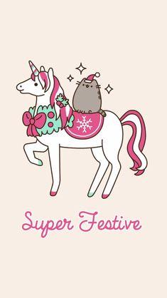 pusheen so cute # javen🌸🌸 Pusheen Unicorn, Gato Pusheen, Pusheen Love, Funny Iphone Wallpaper, Cat Wallpaper, Wallpaper Backgrounds, Iphone Wallpapers, Kawaii Drawings, Cute Drawings