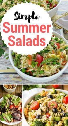 16 Amazingly Simple Summer Salads + Inspiration Monday!