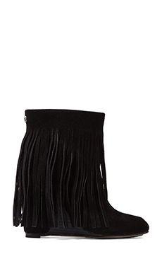 Koolaburra Zarin Fringe Boot in Black   REVOLVE
