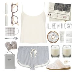 Morning person, created by ctodtims on Polyvore - Lingerie, Sleepwear & Loungewear - http://amzn.to/2ieOApL