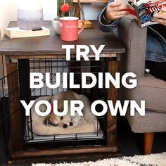 DIY: Dog Bed End Table Store-Bought Vs. DIY: Dog Bed End Table Related posts: DIY Recycled Tire Coffee Table DIY Round Table Ideas Diy Table Refinishing Ideas Dining Rooms 35 ideas diy table refinishing tips Animal Projects, Diy Projects, Fun Crafts, Diy And Crafts, Diy Dog Bed, Diy Bed, Homemade Dog Bed, Pet Beds Diy, Dog Houses