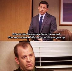 """When Michael was excited to have Toby join a meeting. 25 Michael And Toby Moments On """"The Office"""" That Are Painful To Watch Toby The Office, Best Of The Office, Us Office, The Office Show, Office Fan, Scranton Strangler, Memes Gretchen, Office Jokes, Michael Scott Quotes"""