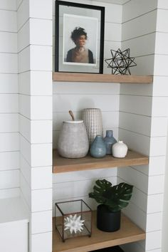 DIY Shiplapped Built-In Shelves: Finished and Styled!