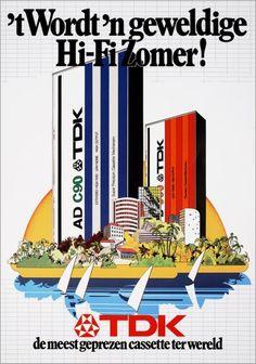 "#Vintage #Ads #1980's - Dutch TDK ad ""It will be an amazing Hi-Fi summer!"""