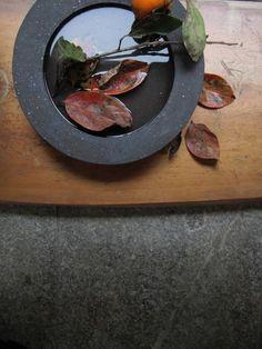 Flower flat vase by Atelier Katsumi, Japan