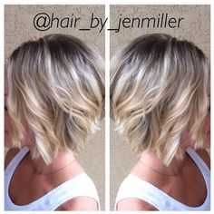 """☀️ #highlights #blondehair #wavybob #hairpics #hairpost #haircolor #haircut #sunkissedhair #prorituals #hairbyjenmiller #southernrootssalon #modernsalon…"""