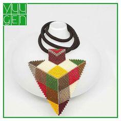 Rengarenk üçgen kolye... #aksuar #beadedaccessories #beading #beads #beadweaving #beadwork #delicabeads #elyapımı #fashion #gifts #handmade #kolye #miyukebeads #miyuki #miyukiboncuk #miyukidelica #miyukiearring #miyukikolye #moda #peyote #peyoteshape peyoyetriangels #rengarenk #seadbeads #stil #taki