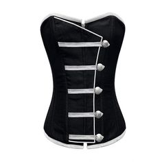 Black Button Down Corset - love that military styling and 'look don't touch vibe'.
