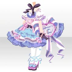 Character Costumes, Character Outfits, Anime Outfits, Girl Outfits, Cute Outfits, Anime Dress, Cocoppa Play, Anime Hair, Cute Chibi