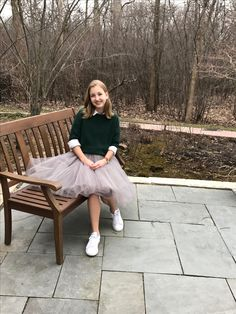 Grey Tulle Skirt Outfit - white Adidas