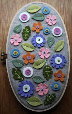 Oval Flower Scatter Hoop by TeresaMade on Etsy