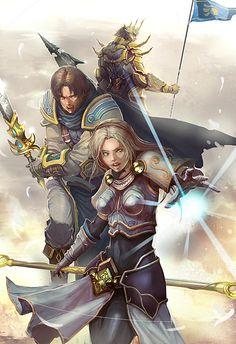 Lux, Garen and Jarvan • League Of Legends