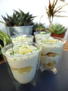 Tiramisu Citron vert Ananas et Coco Brunch Recipes, Sweet Recipes, Dessert Recipes, No Cook Desserts, Delicious Desserts, Canned Blueberries, Scones Ingredients, Dessert Aux Fruits, Pastries