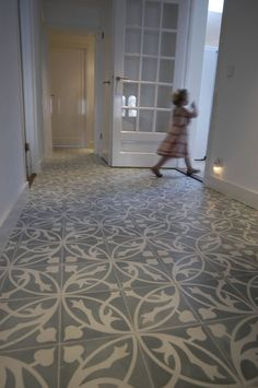 Deluxe Floral Printed Cement Floor Tile Fro House Floor