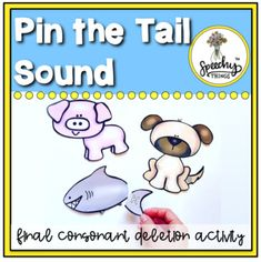 Pin the Tail Sound is a cute little phonological processes puzzle that is a hands-on, concrete way to teach kids all about final consonants (or tail sounds!) It can be used for a wide variety of speech and language goals. Your preschool kids will have a blast with this activity! ☞ CUSTOMER REVIEWS ☜...