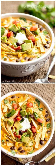 Slow Cooker Chicken Fajita Soup INGREDIENTS 1 pound boneless, skinless chicken…