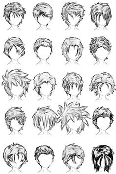 20 Male Hairstyles by ~LazyCatSleepsDaily on deviantART