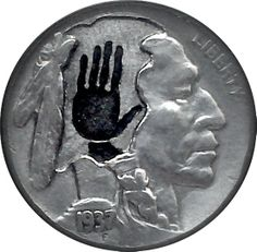 DIMAS SÁNCHEZ MORADIELLOS HOBO NICKEL - PLAYING WITH FORMS - 1937 BUFFALO NICKEL Hobo Nickel, Paper Cutting, Buffalo, Coins, Carving, Art, Art Background, Rooms, Wood Carvings