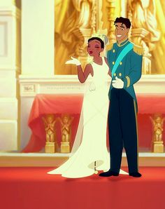 Tiana and Naveen from the Disney Princess and the frog Tiana And Naveen, Disney Princess Tiana, Princess Movies, Prince Naveen, Cinderella Movie, Disney Princesses, Disney Characters, Old Disney, Baby Disney